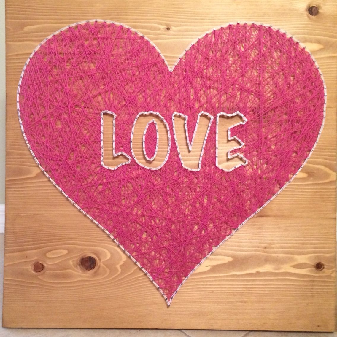 Heart Love String Art Sign I Love You Wall Hanging Home Decor