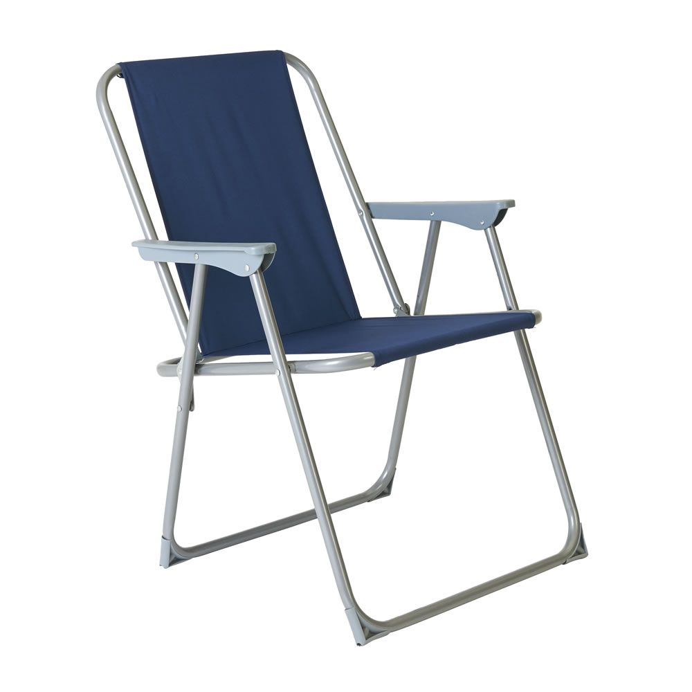 Wilko Spring Tension Chair Blue | Camping | Pinterest