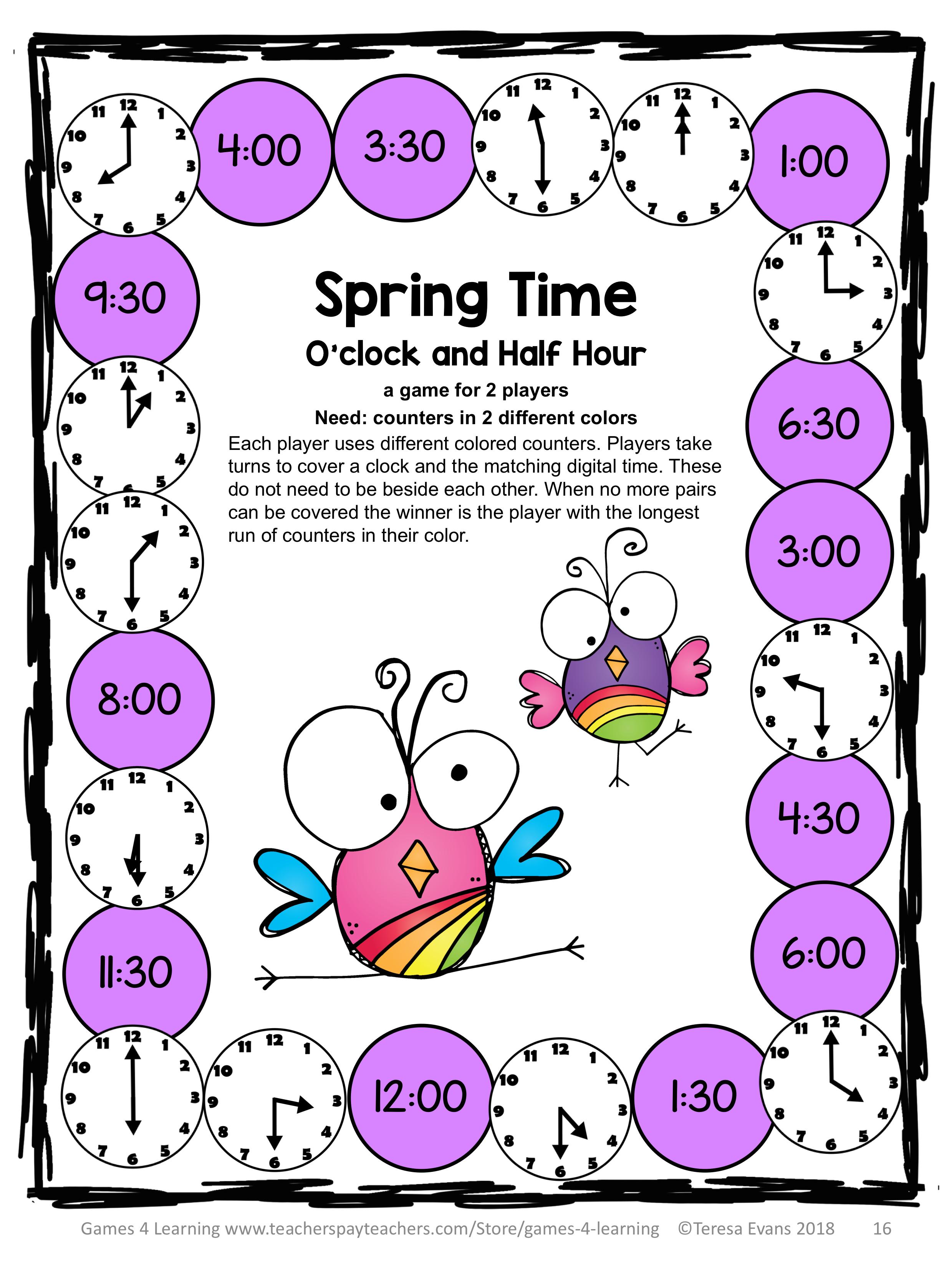 Spring Math Worksheets Games Brain Teasers Spring