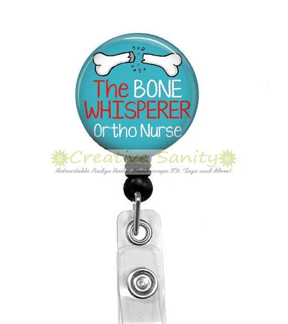Ortho Nurse Retractable ID Badge Holder The Bone by CreativeSanity