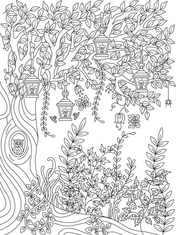 Pin By Rosalie Teaching Travel On Coloring Garden Coloring Pages Nature Garden Coloring Pages Forest Coloring Book