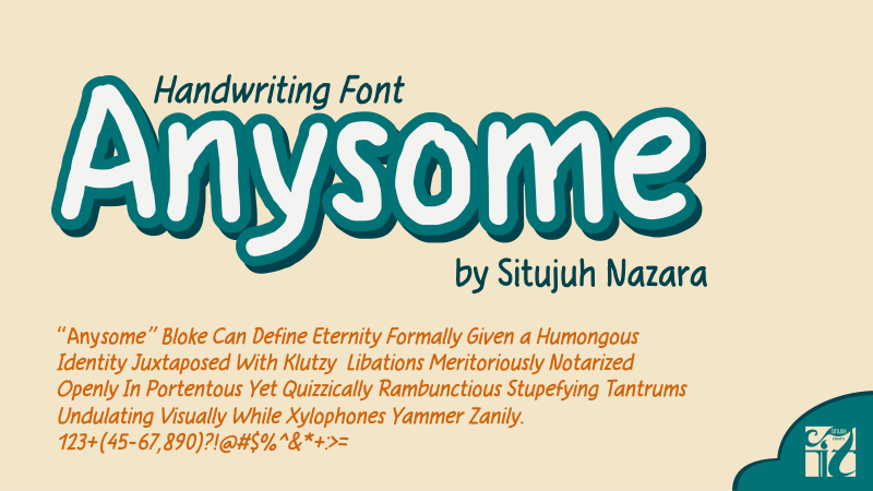 anysome is not an awesome font it is just a simple lettering design