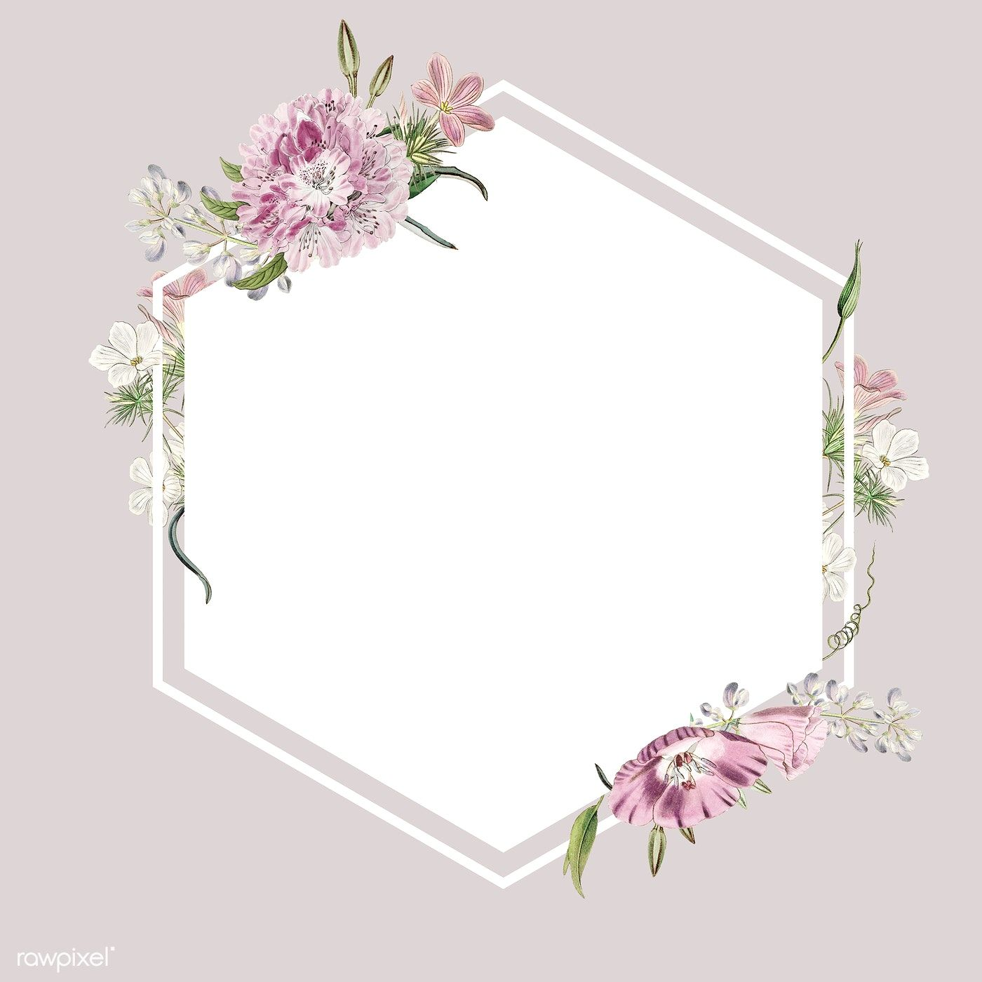 Download Premium Illustration Of Floral Frame Background High Resolution Vintage Floral Backgrounds Flower Frame Frame Design