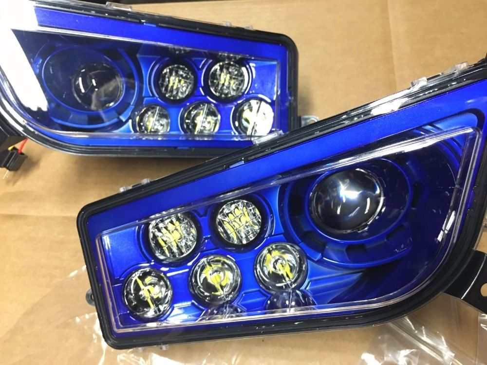 Pair 2017 Polaris Rzr 900 S Electric Blue Led Headlights Conversion 1000 Style