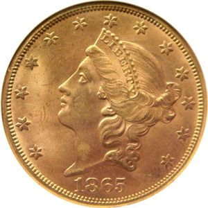 1865 Twenty Dollar Gold Gold Coins Gold And Silver Coins Silver Coins