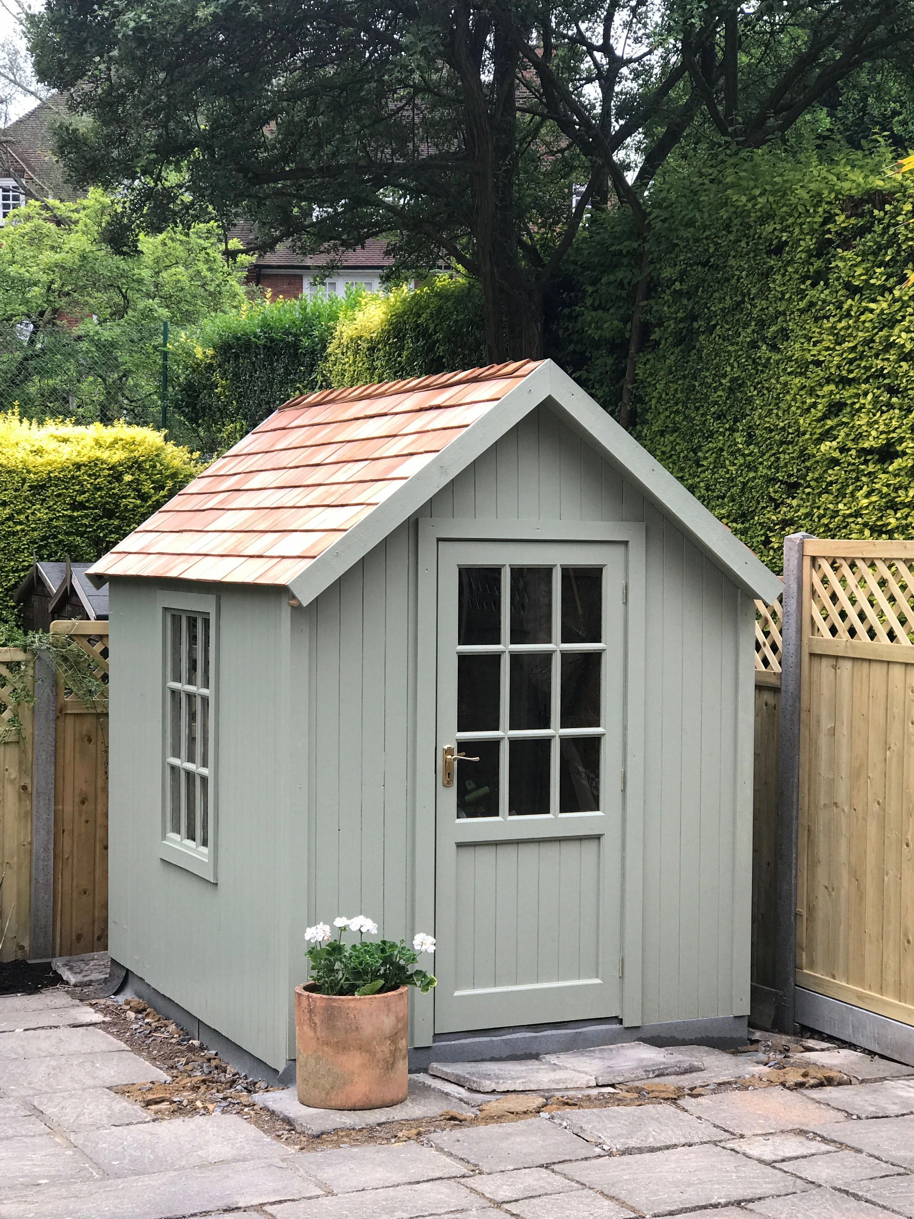 painted garden sheds
