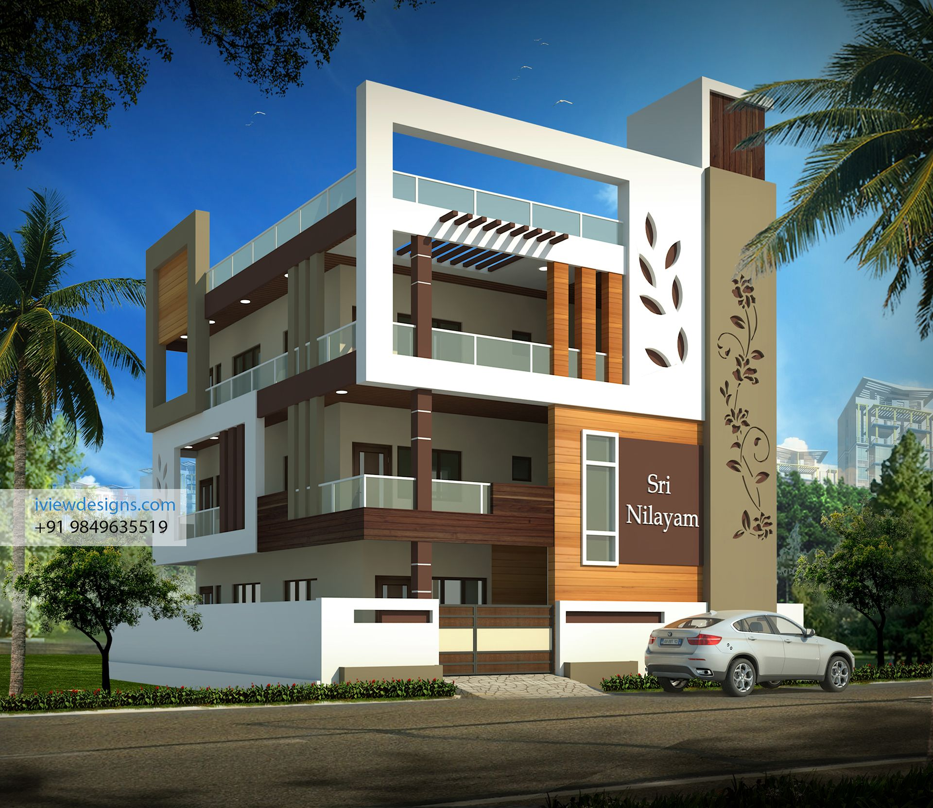 Villa on behance interiors in 2019 house front design