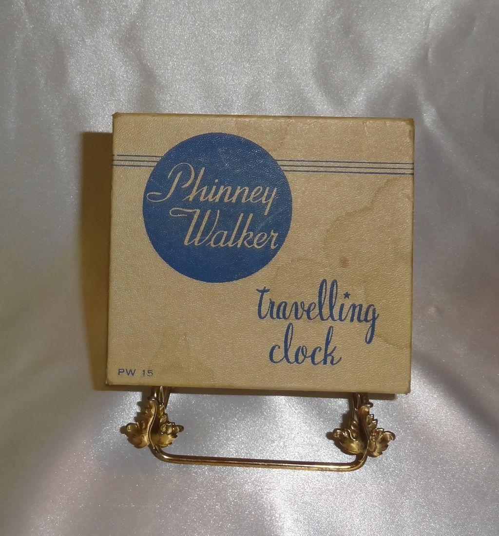 Vintage Phinney Walker Travelling Clock in Original Box