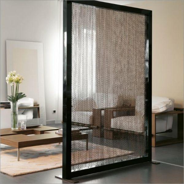 Modernes Zimmer Mit Einer Eleganten Trennwand Schwarze Rahmen 42