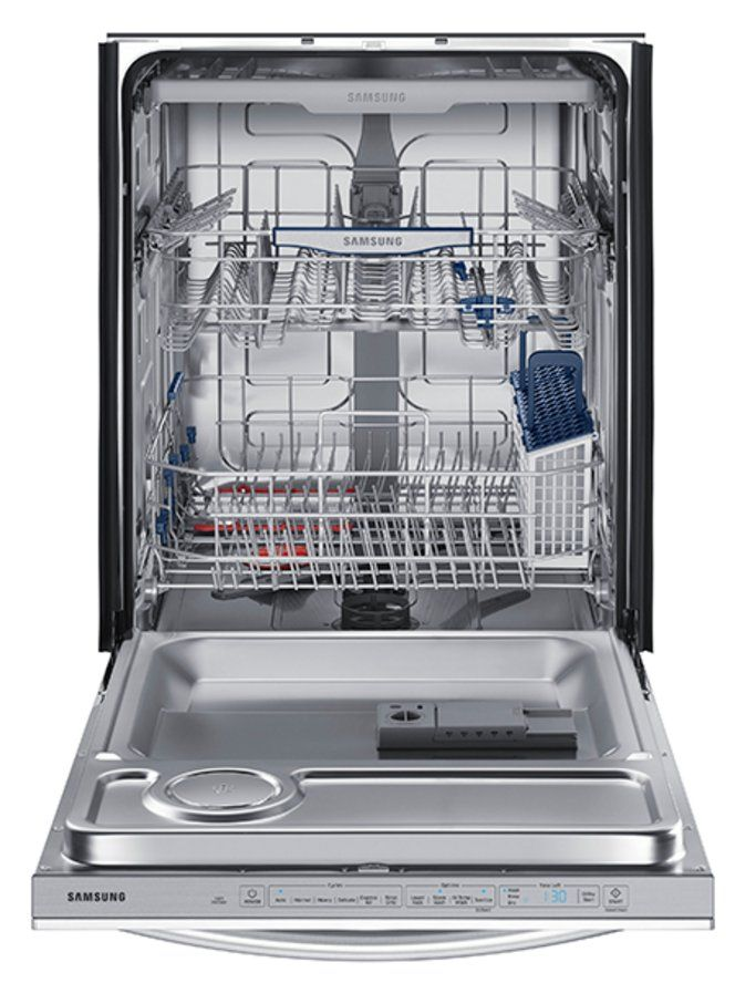Samsung Dishwasher With Bar Handle Stainless Steel In 2020 Built In Dishwasher Steel Tub Samsung Dishwasher