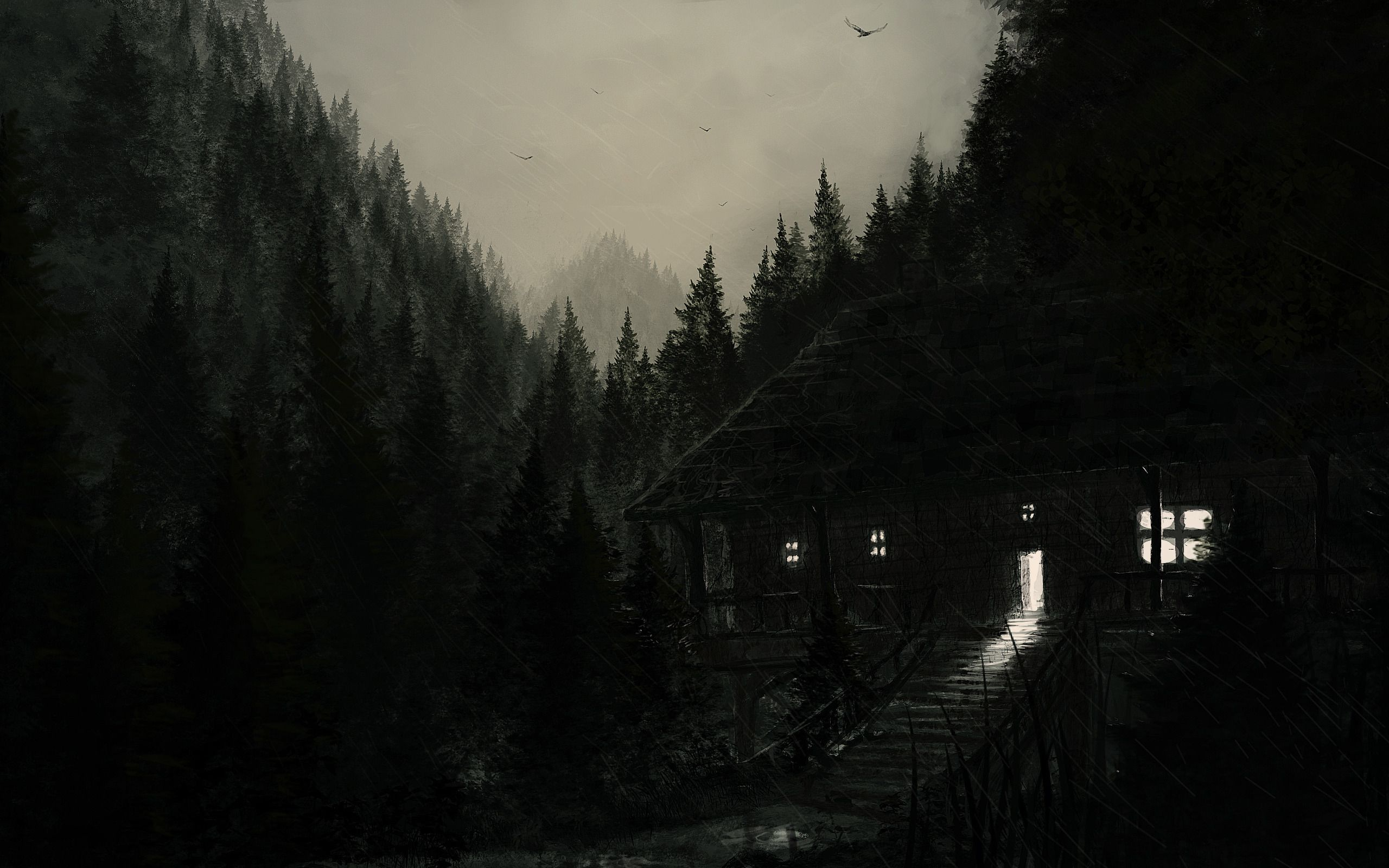 Dark Woods Hd Backgrounds With Images Dark Wood Wallpaper