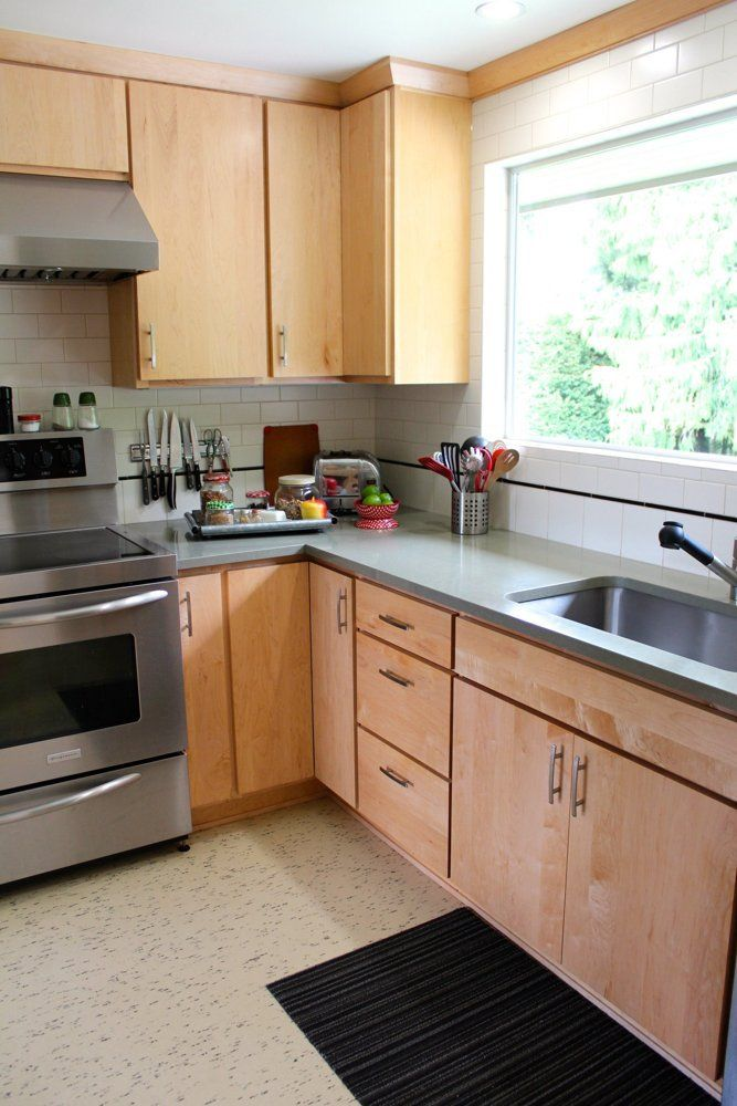Split Level Kitchen Remodel Photos: Susan & Herb's Handmade, Mid-Century Split Level
