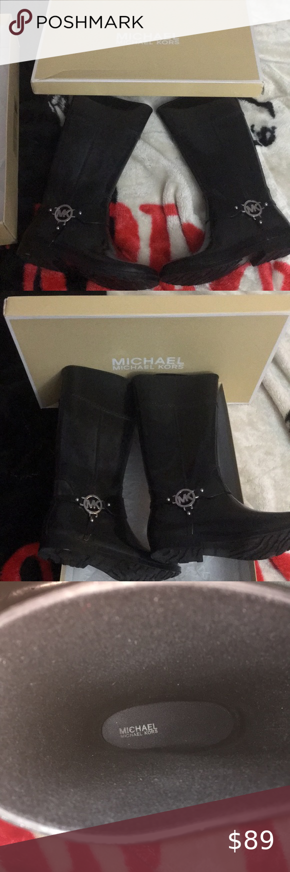 ❄️MichaelKors Boots❄️ Great Condition-slight fade-Rainboots-15inch High Michael Kors Shoes Winter & Rain Boots