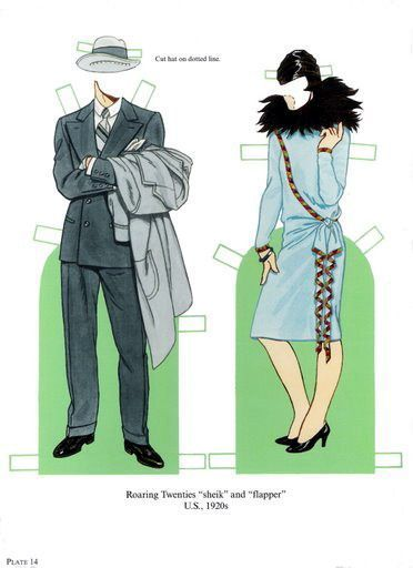 Fashion Through the Ages Paper Dolls