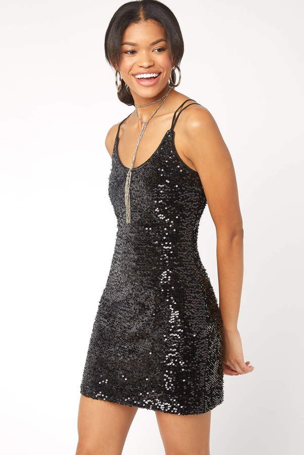 Black Swan Strappy Sequin Velvet Dress  f02eea77c