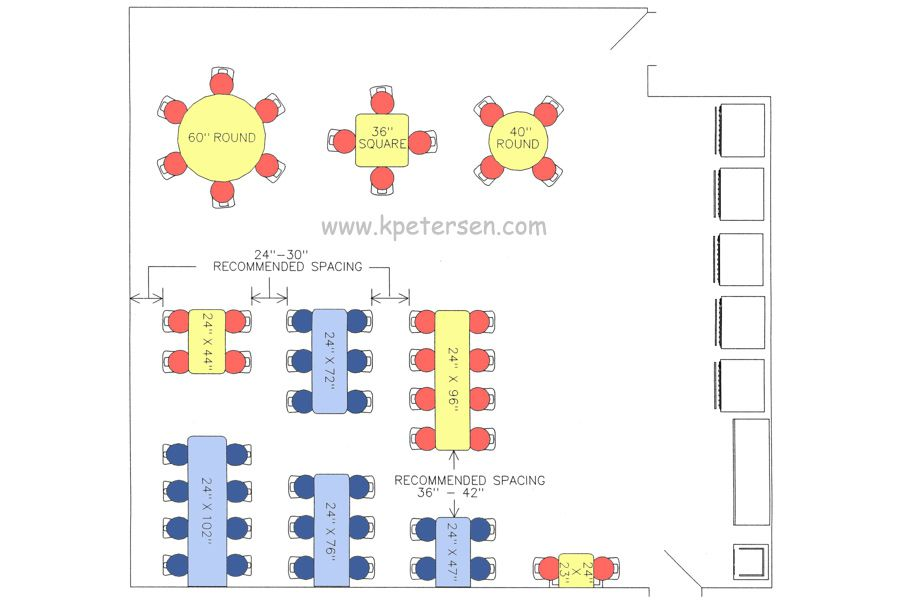 Cafeteria Cluster Seating Arrangement Drawings Plan View