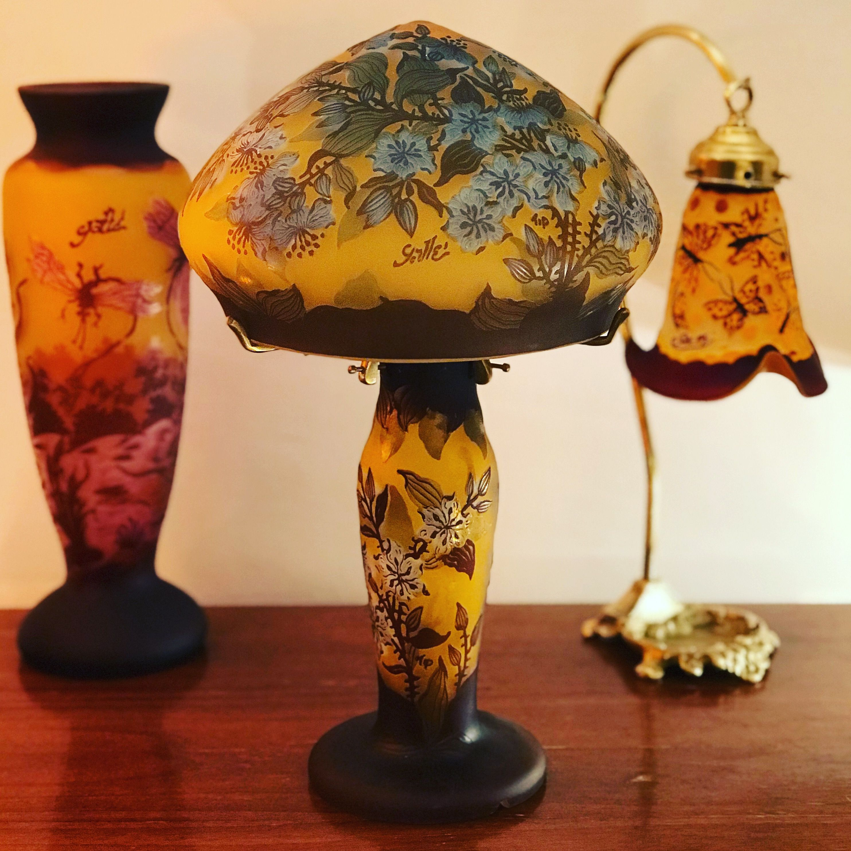 Emile Galle Lampshade Reproduction From Romania