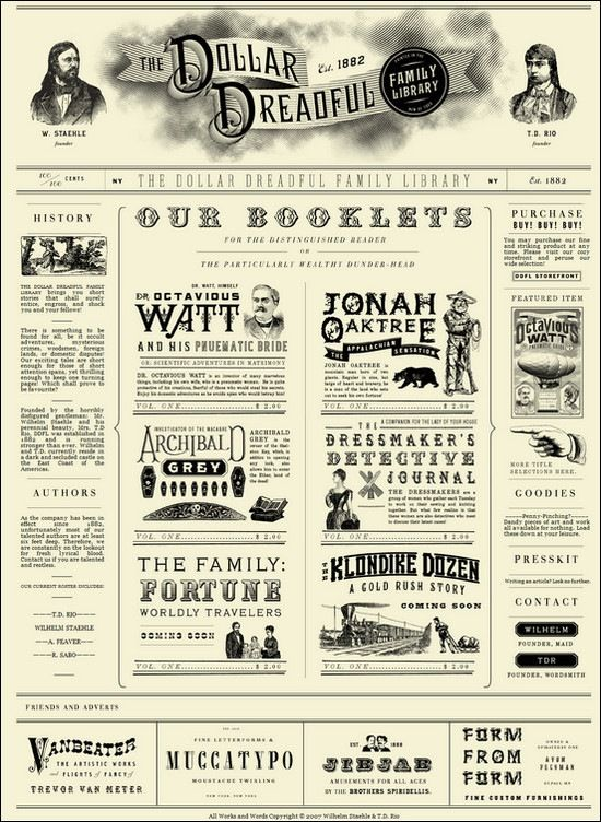 Dollardreadful Vintage Inspired Website Design