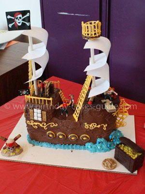 Pirate Birthday Cakes Cakes Pinterest Cake Pirate birthday