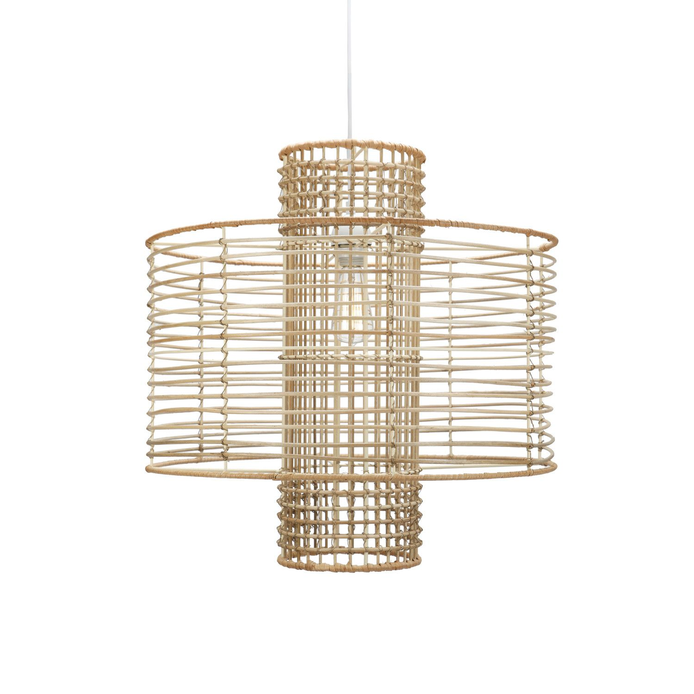 Selamat deco light hanging drum pendant in white or natural