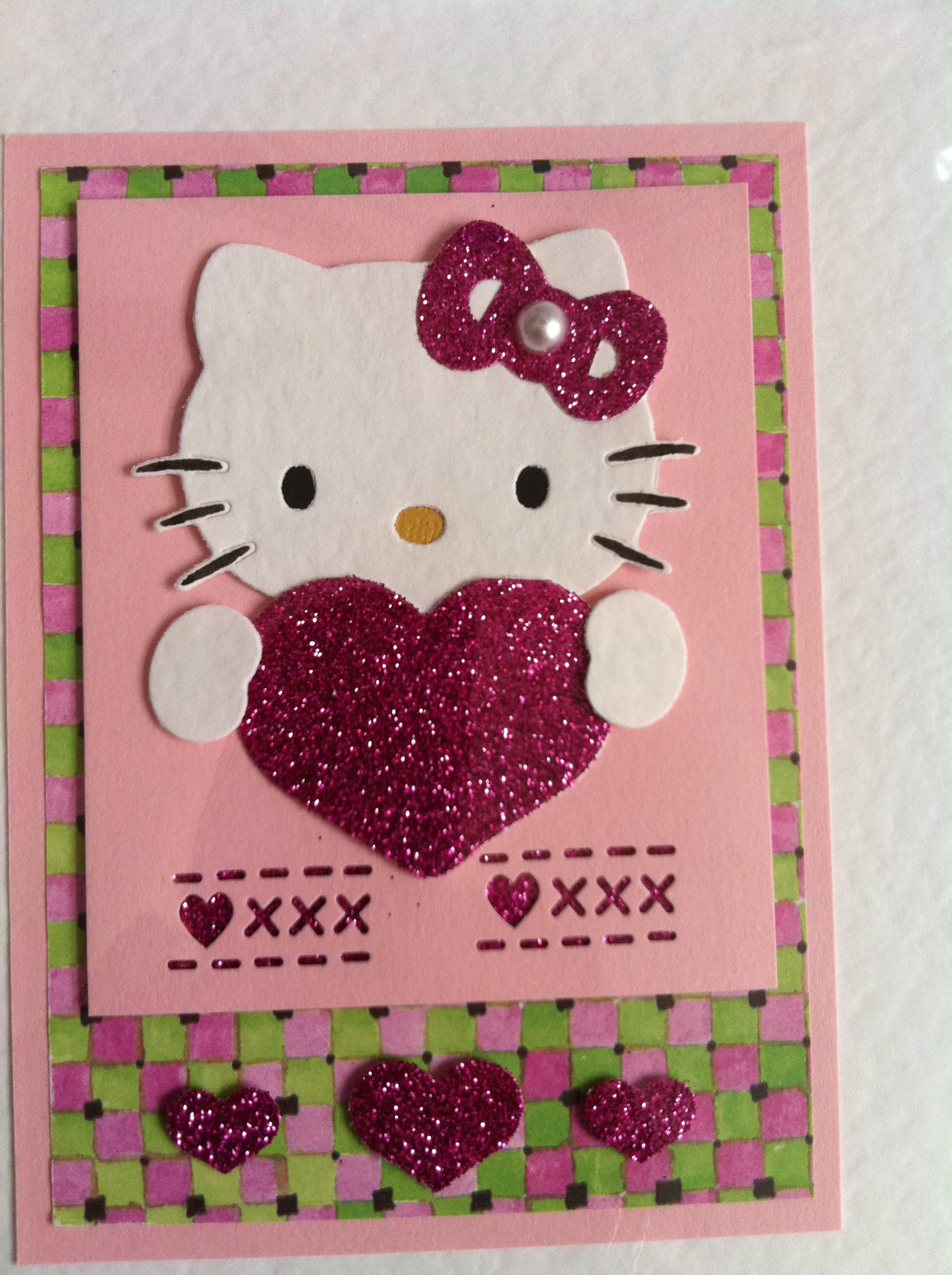 Hello Kitty Card Ing Glitter Paper