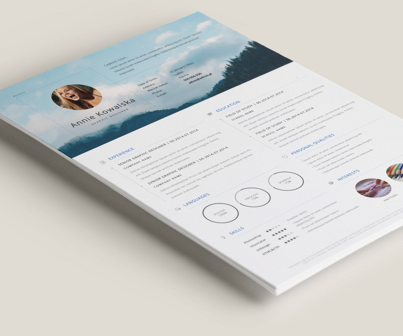 Free Resume To Download And Edit Darmowe Cv Do Sciagniecia I Edycji Graphic Resume Graphic Design Resume Best Resume Template