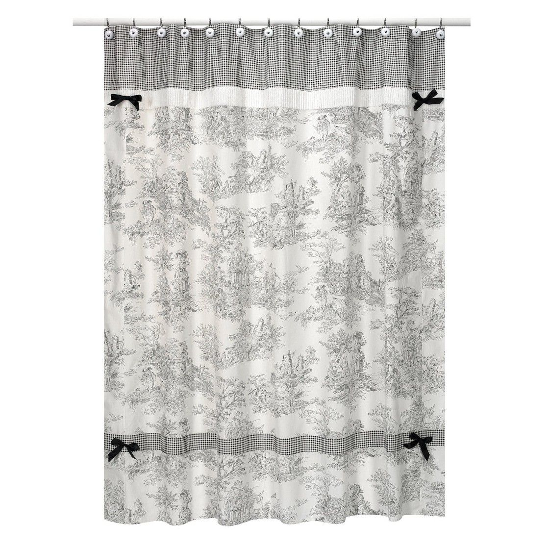 Sweet jojo designs toile shower curtain black toile bath ideas