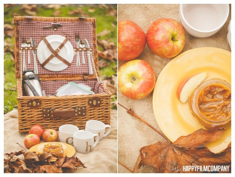 Bring a delicious fall picnic for a cozy photoshoot!  Autumn picnic adventure the Happy Film Company!