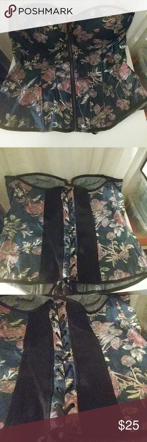 SALETorrid corset jean look with floral print NEW. NWT   Torrid ...