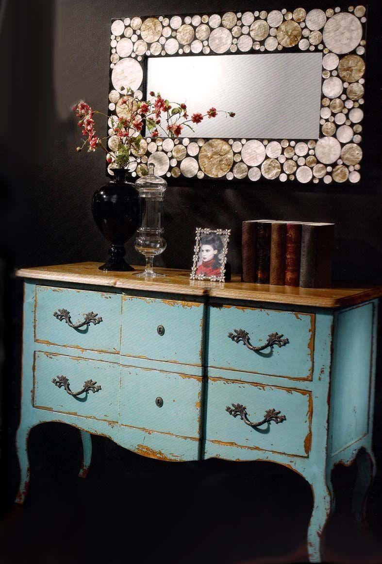 Consola en acero inoxidable y madera de olmo milenia for Muebles y decoracion beltran