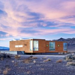 This stunning home in the middle of the desert was planned, constructed and furnished via e-email.