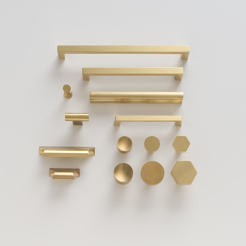 ^ Greenwood Pull - Natural Brass Brass drawer pulls, opper and ...