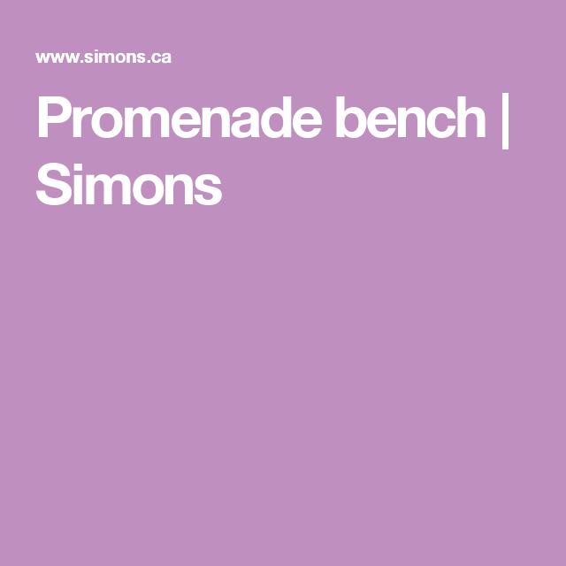 Promenade bench | Simons