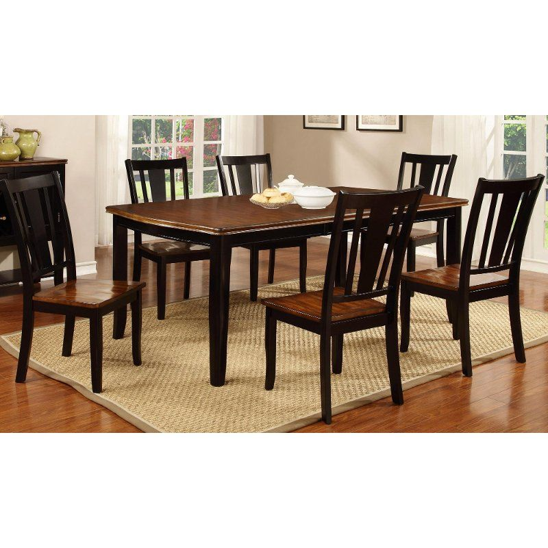 Black And Cherry 5 Piece Dining Set Dover Home Tips Dining Table Chairs Dining Furniture Sets Dining