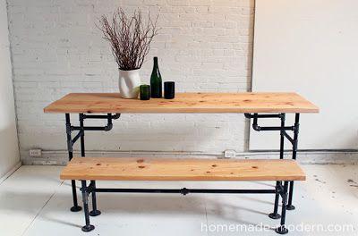 Homemade Modern Www Homemade Modern Com Iron Pipes Wood