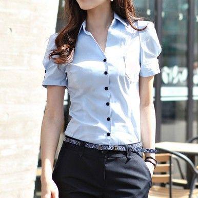 2013 hot trendy Female short-sleeve shirt T-shirt Korean Slim 5sizes Business Attire(China (Mainland))