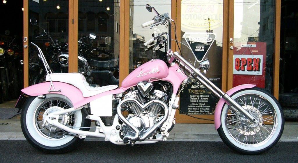 Japanese Bike with Heart – Biker Girl Bling
