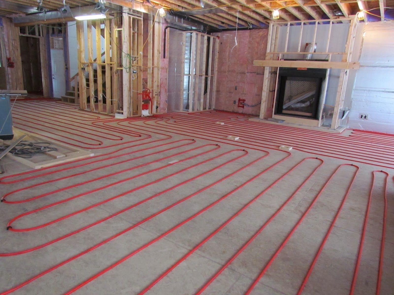 Basement Floor Heating Under Carpet Radiant Floor Heating Heated Tile Floor Floor Heating Systems