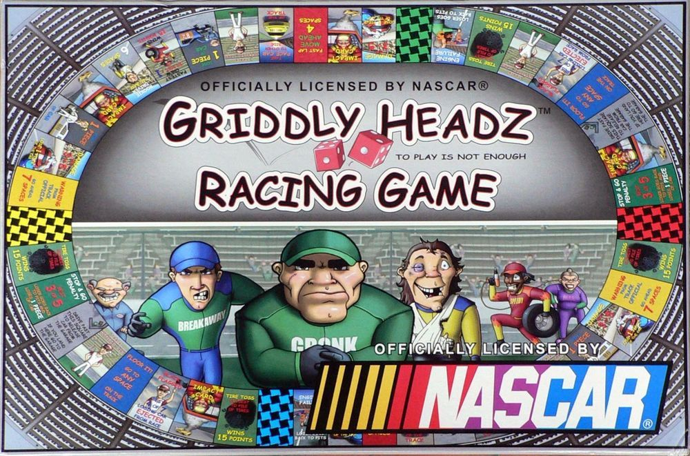 Griddly Headz 2006 NASCAR Racing Board Game New Factory