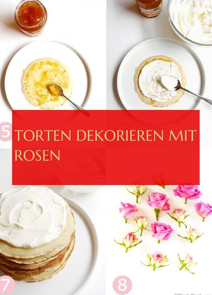 Desserts - torten dekorieren mit rosen - torten dekorieren mit rosen - #torten #dekorieren #rosen #tortendekorieren