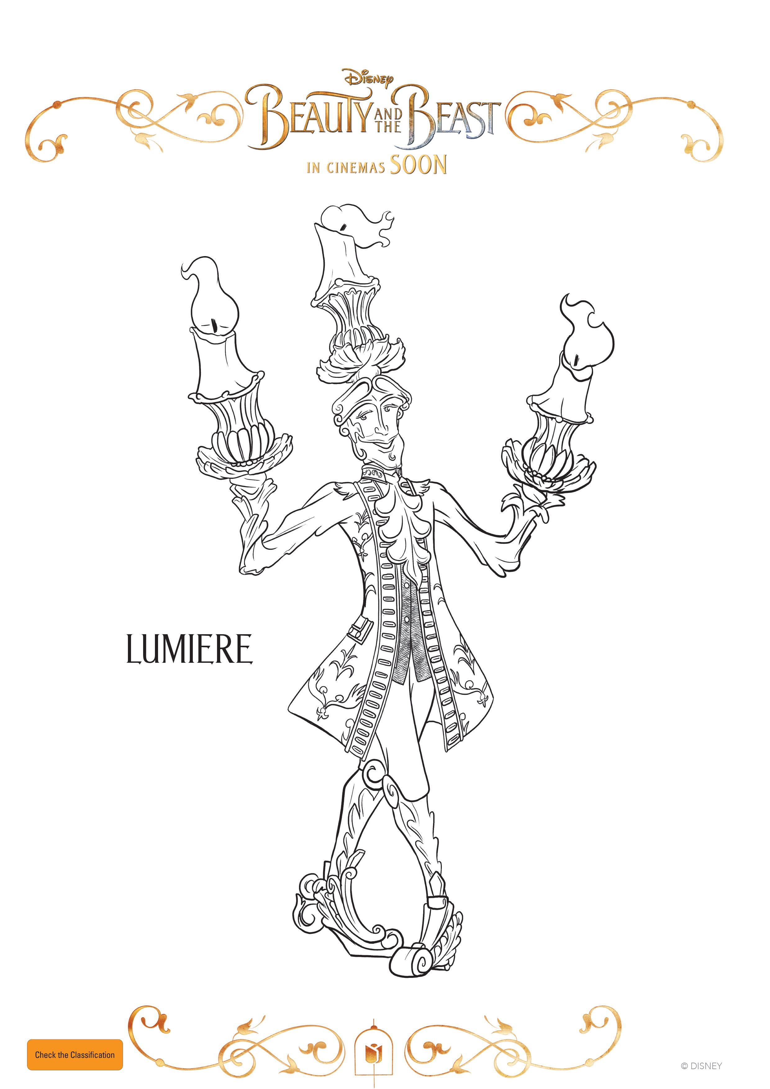 Lumiere Coloring Pages Disney Coloring Pages Free Coloring Pages
