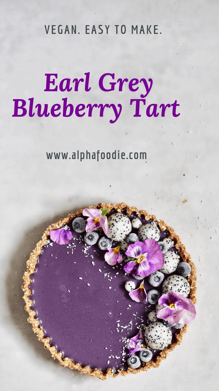 Vegan Earl Grey Blueberry Tart #sugarfreedesserts