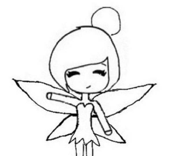 Chibi Template. Petite Fille Robe Simple Et Chignon Avec Fleur Chibi ...
