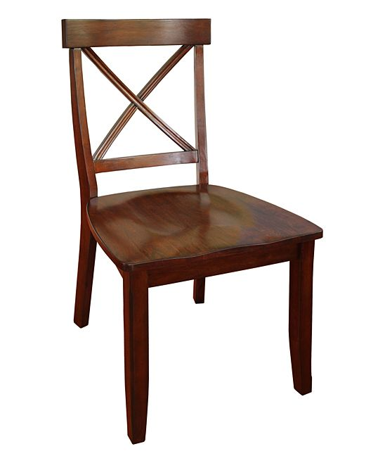 Cherry Classic X-Back Dining Chair - Set of Two