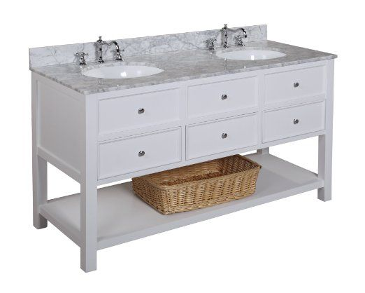 New Yorker 60 Inch Bathroom Vanity Carrera White Includes A