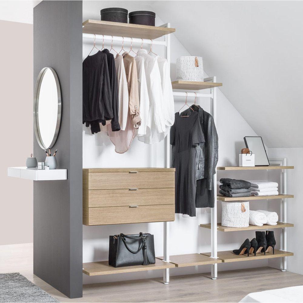 begehbarer kleiderschrank f r dachschr ge und ankleidezimmer in 2019 begehbarer. Black Bedroom Furniture Sets. Home Design Ideas