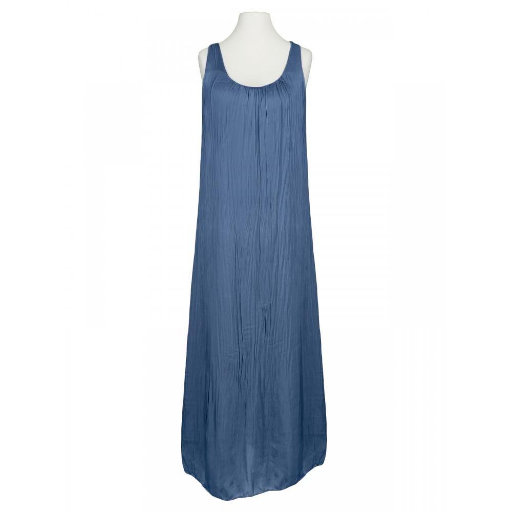 kleid lang mit seide, blau bei meinkleidchen kaufen