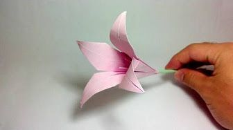 Origami flower youtube papier origami pinterest origami origami flower youtube mightylinksfo