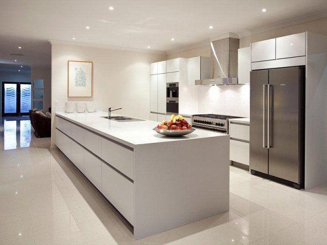 Dise o de cocina moderna isla usando el acero inoxidable for Cocina tipo isla diseno