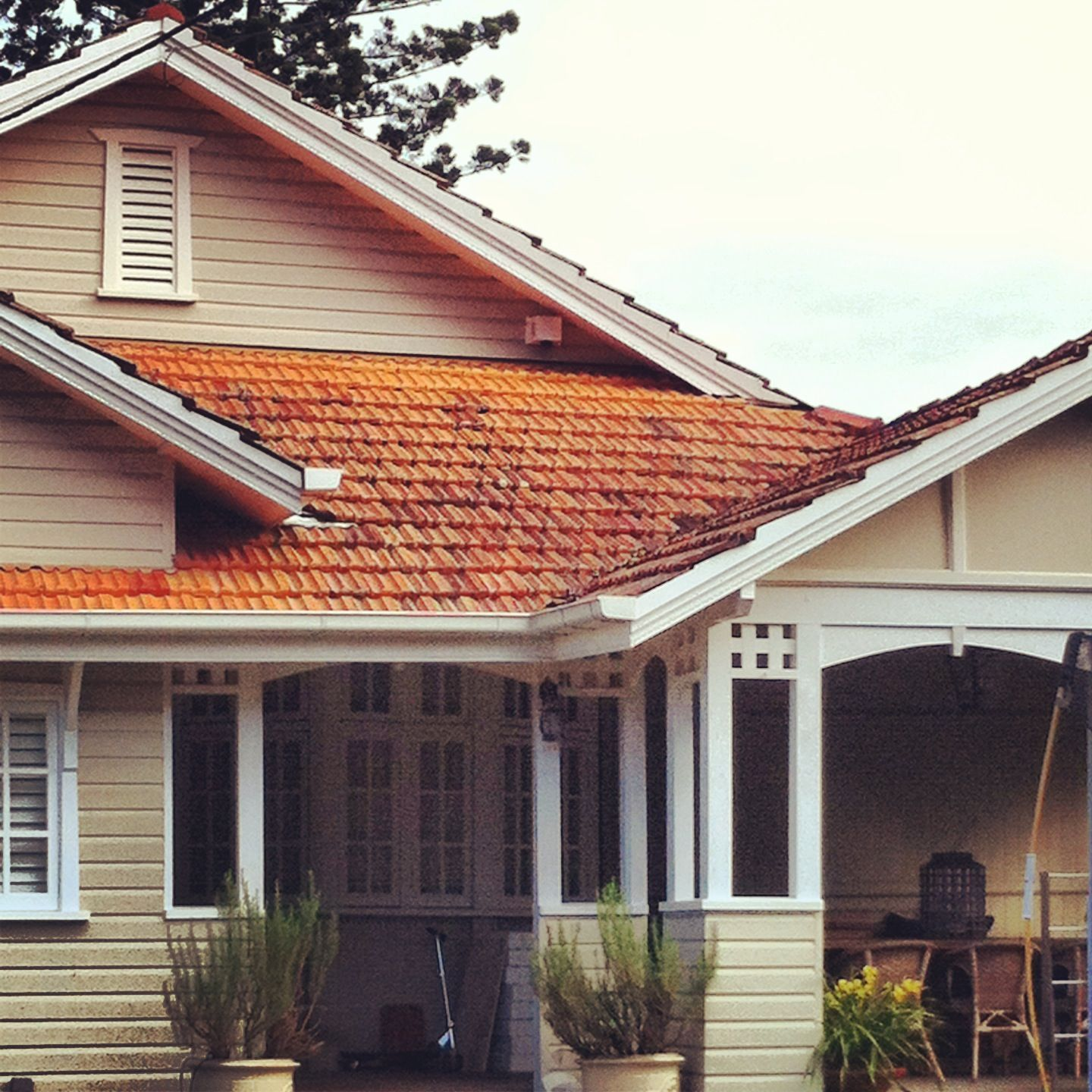 Weatherboard Combined With Posts